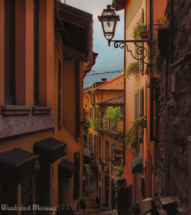 quaint small street in Bellagio
