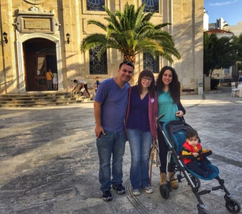 Alex, Bell with family in the historic center of Heraklion