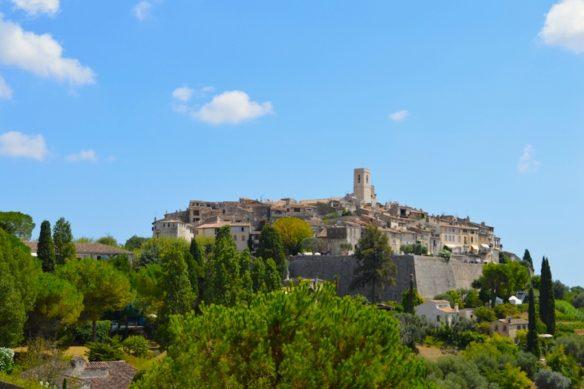 St Paul de Vence village perched on the hill