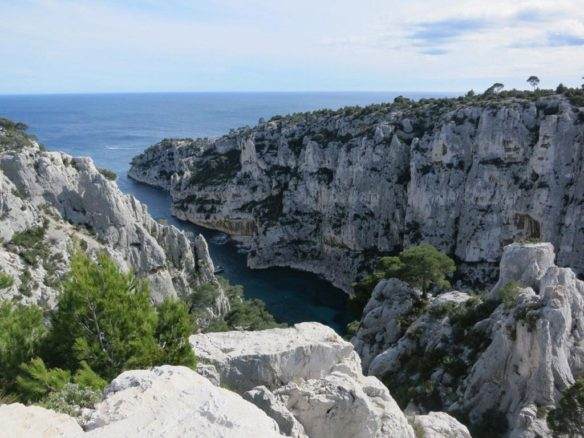 Cliffs and sea in Calanques National Park