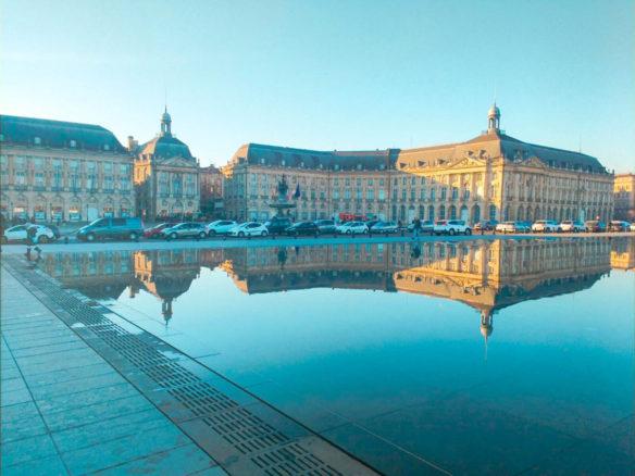 The Miroir d'Eau, reflection in Bordeaux, South of France