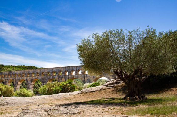 Pont du Gard which kind of looks like a large aqueduct