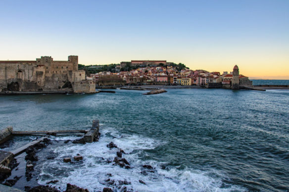 Collioure, South of France on the sea