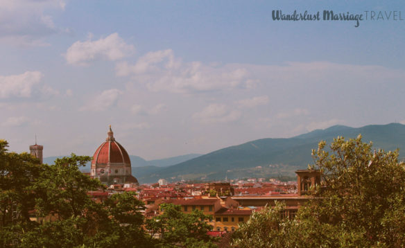 Florence landscape with the Dumo and mountains