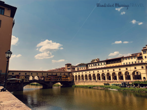 The famous Ponte Vecchio Bridge