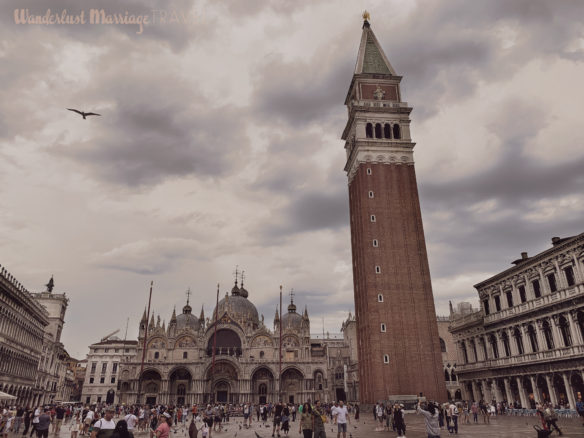 St Marks Square filled with tourists