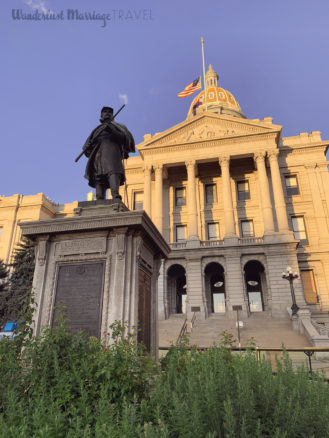 Front pf the Denver State capitol building