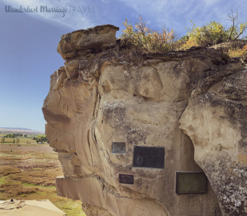 Lewis and Clark signed their names in this rock