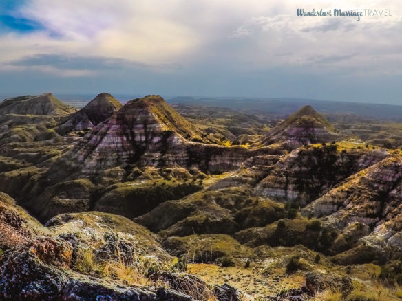 The rock mounds of Terry Badlands stretching for miles