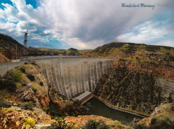 Large dam on the Big Horn river