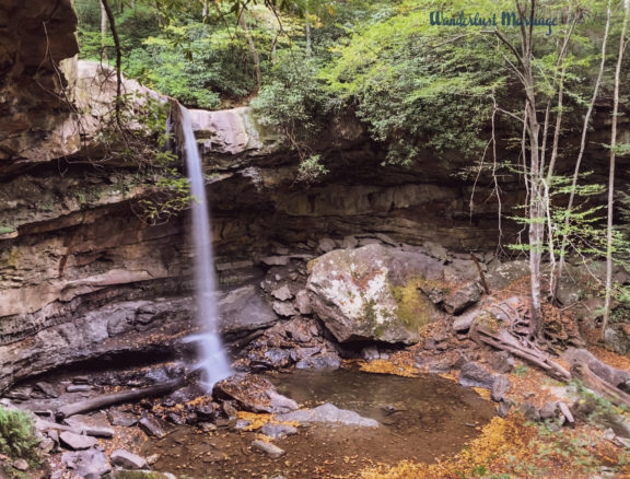 Cucumber Falls in Ohiopyle State Park in Laurel Highlands, Pennsylvania