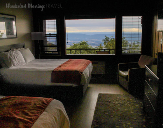 Skyland hotel room with view of Shenandoah Valley