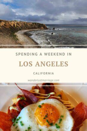 Pinterest pin - weekend in LA