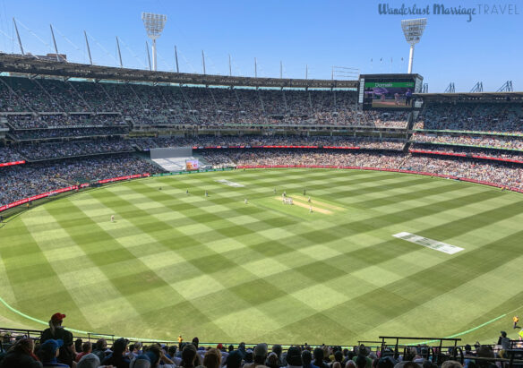 Boxing day cricket being played at the MCG