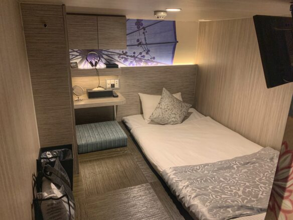 spacious capsule room at Hotel Cargo Shinsaibashi