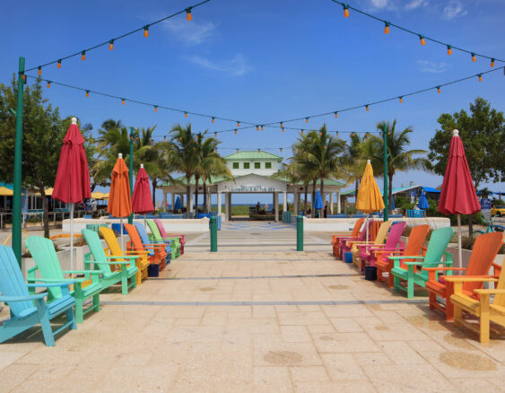 colorful beach chairs in Lauderdale by the Sea, Florida