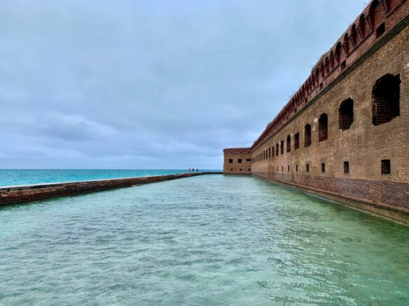 sea and fort in Dry Tortugas National Park, Florida
