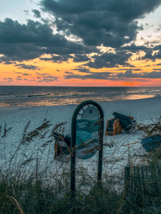 sunset on South Walton Beach, Florida