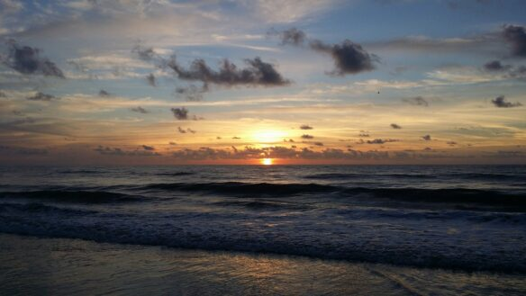 sunset on the beach in Amelia Island, Florida