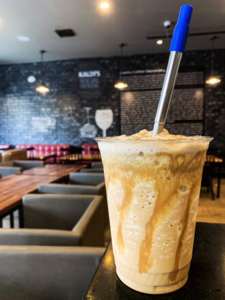 Photo of a caramel frappe