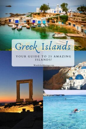 Collage of Greek islands pin For Pinterest