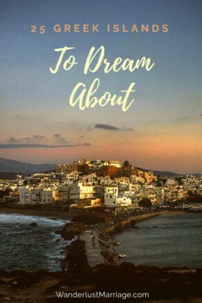 Pinterest pin Greek islands