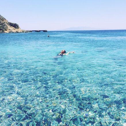 crystal clear water in Mykonos