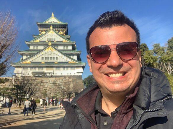 Alex selfie at Osaka Castle